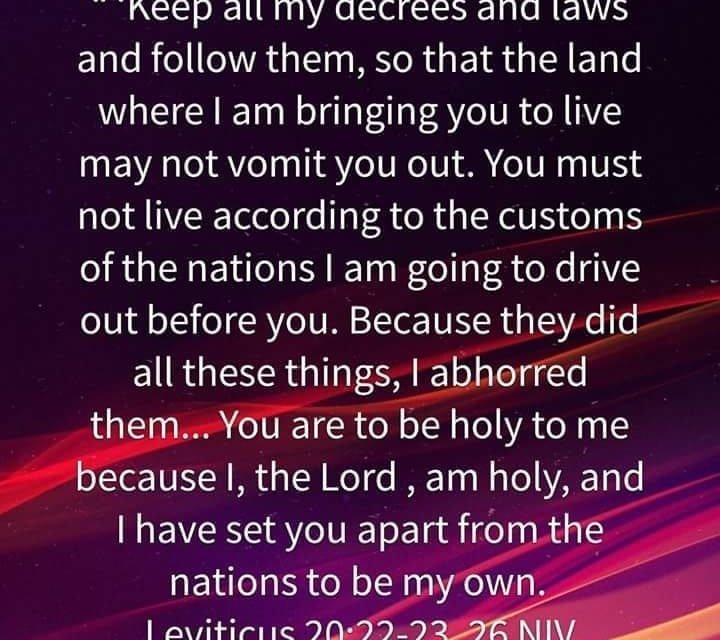 Holy to the Lord – Ezek 22:26